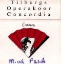 Marja's naamplaatje bij de uitvoering van Carmen
