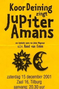 Opera Jupiter Amans van Wagenaar - december 2001