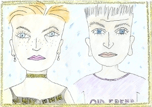 Trouwen (1) - tekening Marja